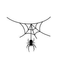 Scary spider web background cobweb background vector