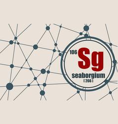 seaborgium chemical element vector image