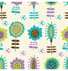 seamless floral pattern on a light background vector image