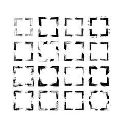 Set of rectangle frames vector