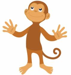 surprised monkey vector image