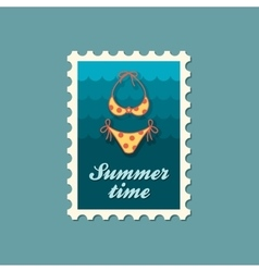 Swimsuit stamp Summer Vacation vector