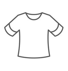 T-shirt thin line icon clothing fashion shirt vector