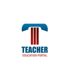 teacher symbol for education and science design vector image