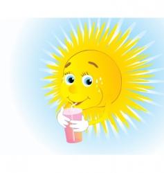 Thirsty sun vector