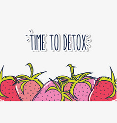 Time to detox vector