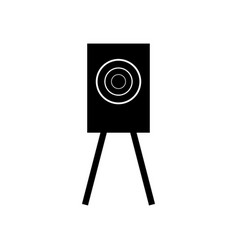 training target shooting icon vector image