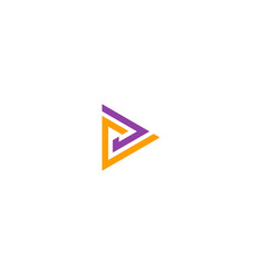 Triangle line colored logo vector