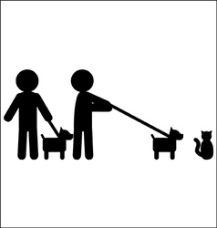Walking a dog vector image
