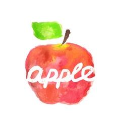 Watercolor apple lettering vector