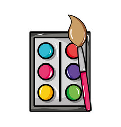 Watercolor paint brush object education vector