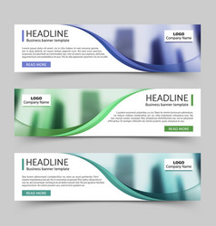 Website horizontal business banners vector