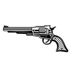 western pistol or revolver vector image