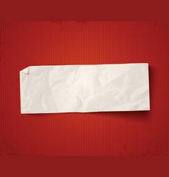 white paper on vintage background vector image