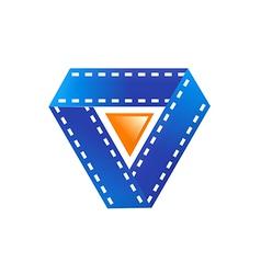 film movie play symbol logo vector image vector image