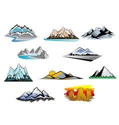 Mountain peaks vector