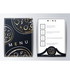 Design menu menu food vector