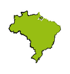 Map of brazil cartography geography tourism travel vector