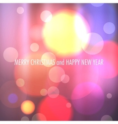 Winter Christmas Blurred Bokeh Background vector image
