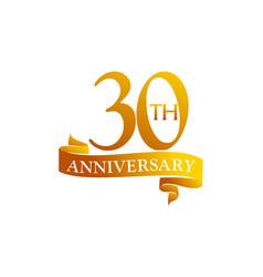 30 year ribbon anniversary vector image