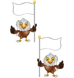 Bald Eagle Character 7 vector image