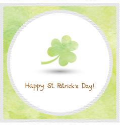 happy saint patrick s day watercolor1 vector image