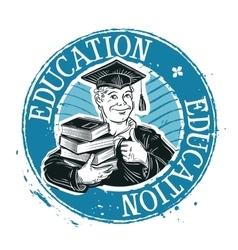 School college logo design template vector image