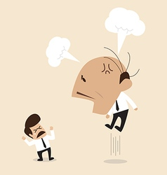 Angry Boss is shouting to his employee vector image vector image