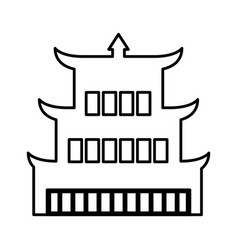 asian building castle icon vector image vector image