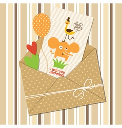 Cute children greeting card vector image vector image