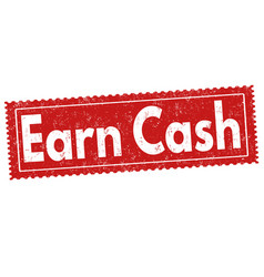 earn cash sign or stamp vector image