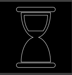 hourglass the white path icon vector image vector image
