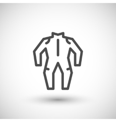 Motorcycle suit line icon vector image vector image