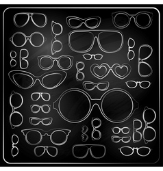 vitnage set from chalk glasses vector image