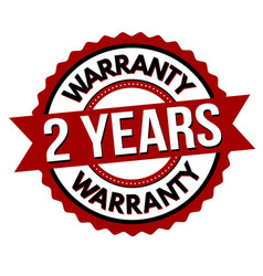 2 years warranty label or sticker vector