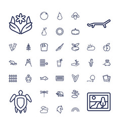 37 nature icons vector