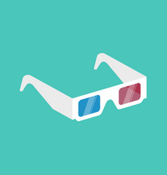 3d cinema glasses isometric vector