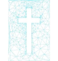 Abstract background with cross vector