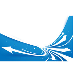 abstract blue and white arrows line motion vector image