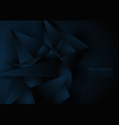 Abstract dark blue geometric polygonal form vector