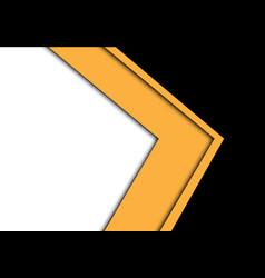Abstract yellow arrow overlap black white vector