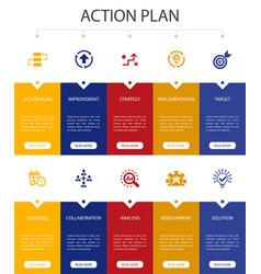 Action plan infographic 10 option ui design vector