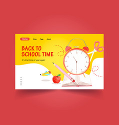 back to school and education concept with website vector image
