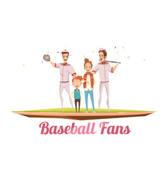 Baseball fans male design concept vector