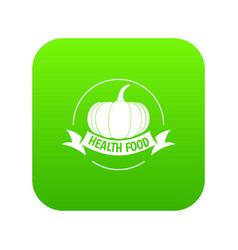 bio health food icon green vector image