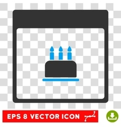 Birthday Cake Calendar Page Eps Icon vector
