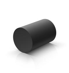 Black cylinder vector