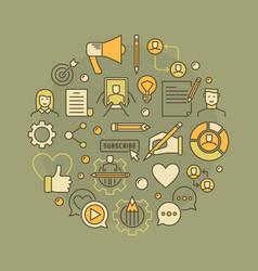 Blogging concept vector