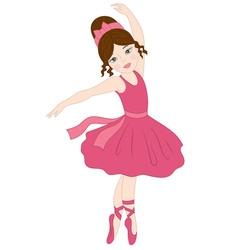 Brunette Ballerina vector