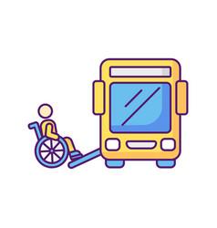 Bus ramp rgb color icon vector